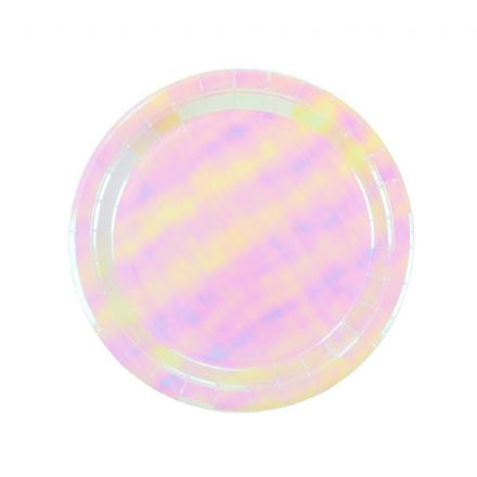 Iridescent Pink Party Plates - pack of 12